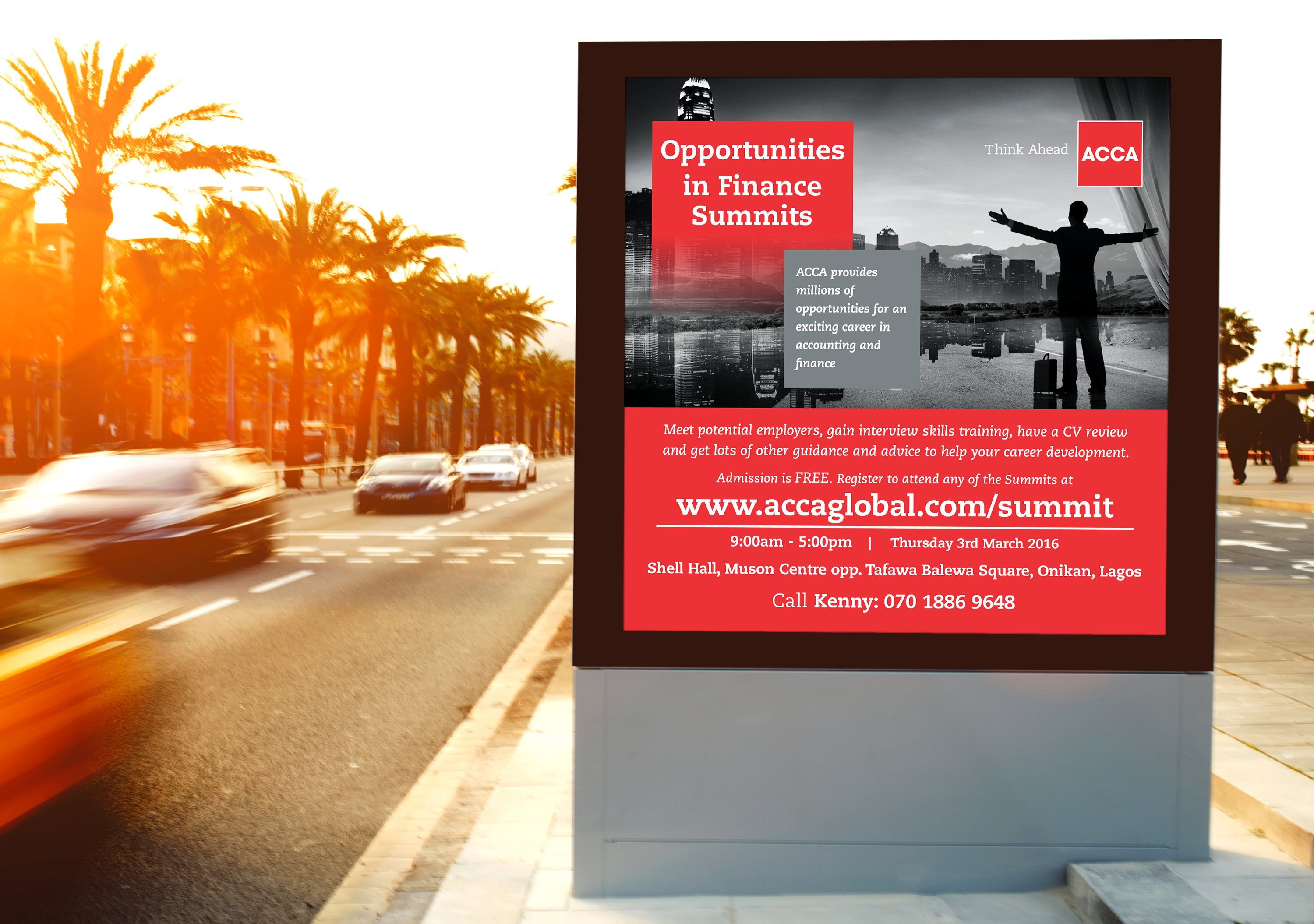 ACCA Roadside Billboard/ CROWNWORTH COMMUNICATIONS